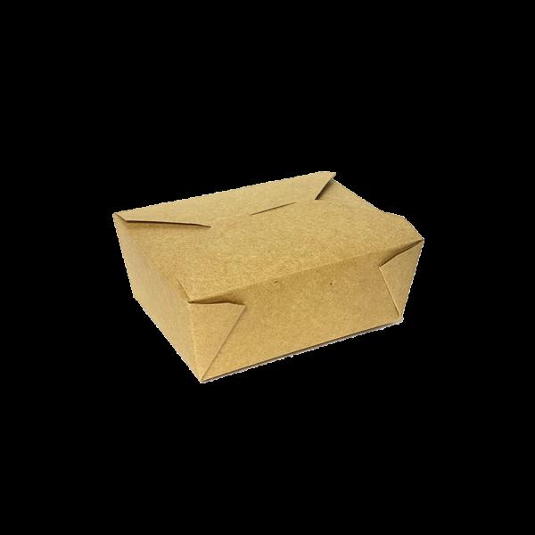caja kraft de cartón marrón hostelería