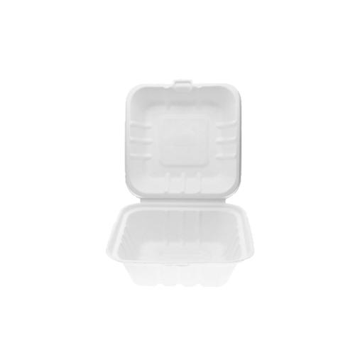 Portamenú hamburguesa caña de azúcar 15,2 x 15,2 cm. x 7,5 cm. de alto (125 uds.)