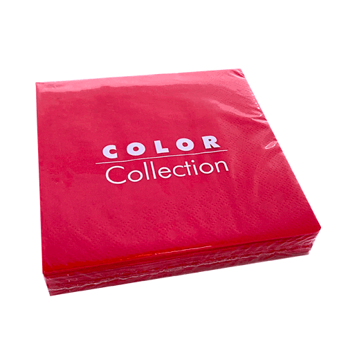 Servilleta lisa color rojo 33 x 33 cm. (20 uds.)