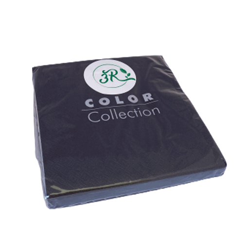 Servilleta lisa color negro 33 x 33 cm. (20 uds.)
