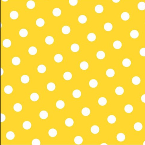 Servilleta de Papel con lunares color amarillo