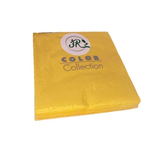Servilleta lisa amarillas 33 x 33 cm. (20 uds.)
