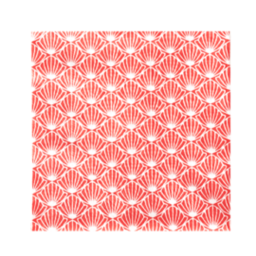 Servilleta de Papel. Estampado conchas 33x33 cm. (30 uds.)