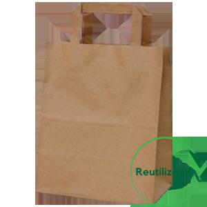 bolsa de papel kraft reutlizable biodegradable compostable