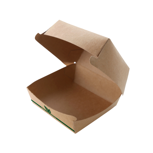 Caja Hamburguesa XL en cartón Kraft 17 x 17 x 8 cm. (50 uds.)