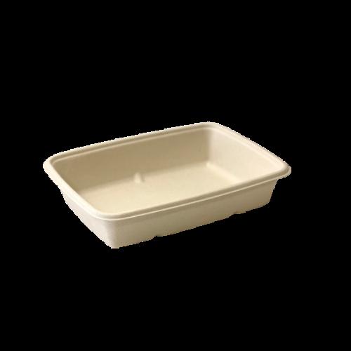 Envase rectangular desechable