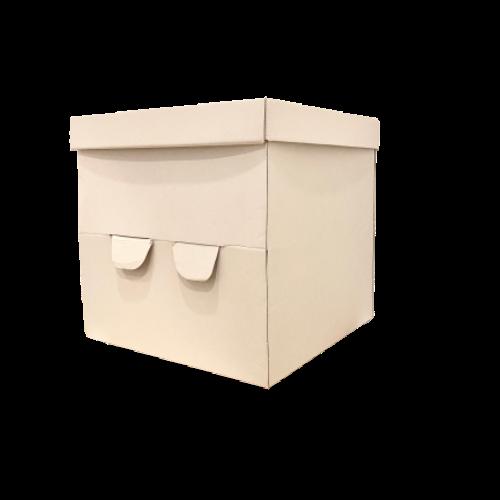 Caja biodegradable portatarta
