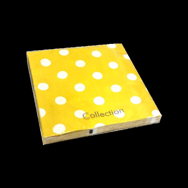servilletas de papel lunares amarillos cumpleaños