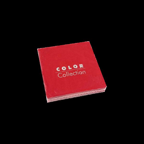 Servilleta de papel cóctel color Rojo 25x25 cm. (20 uds.)