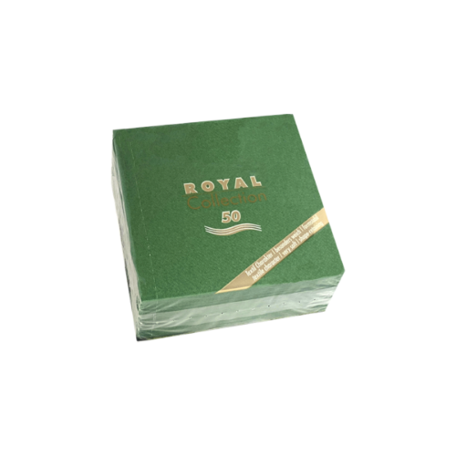 Servilleta de papel pequeña color Verde oscuro