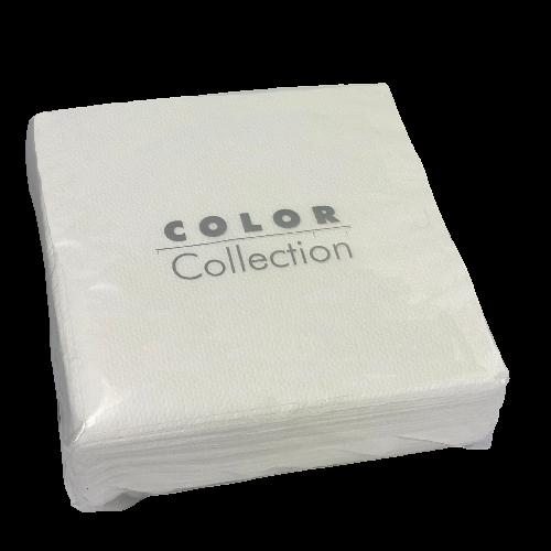 Servilleta eco color blanco 33 x 33 cm. (100 uds.)