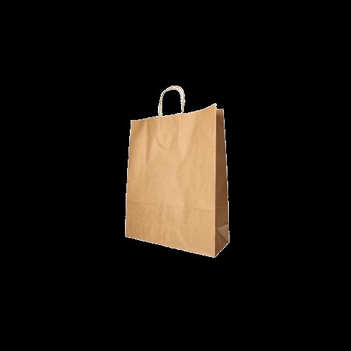 Bolsa de Papel Kraft Marrón con asa rizada