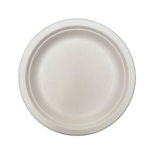 Plato Redondo blanco Caña de Azúcar Ø17 cm. (50 uds.)