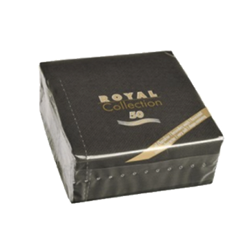 Servilleta de papel pequeñas color Negro 25x25 cm. (50 uds.)