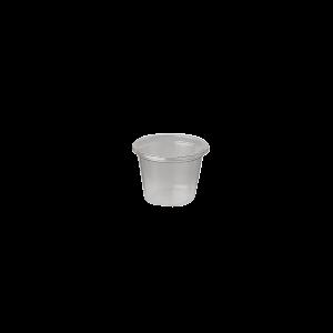 250 Tarrinas salseras transparentes PLA de 30 ml. con tapa
